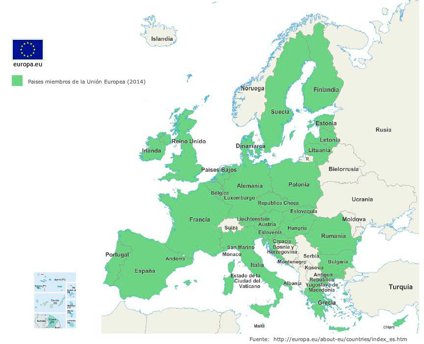 Estados miembro de la Unión Europea 2014