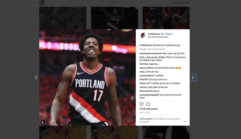 NBA redes sociales